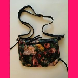 Bueno Black Floral small shoulder bag